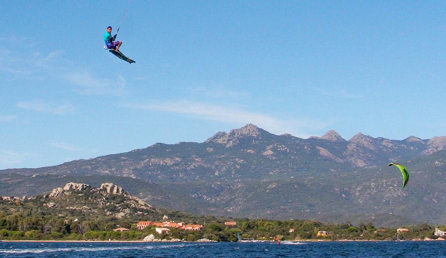 spot de freestyle kite figari corse